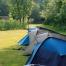 ein Zeltlager bei der Mosoni Duna Kanutour in Ungarn